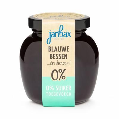 4369 - Jan Bax intense jam blauwebessen limoen 250 gram