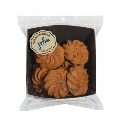 4065 - Jan Bax roomboterkoekjes chocolade rozetten 100 gr