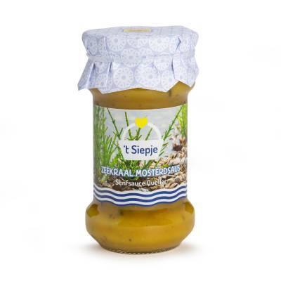 4292 - Jan Bax siepje mosterdsaus met zeekraal 230 gram
