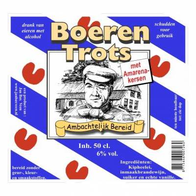 4232 - Jan Bax fries genot amarenekersen 500 ml