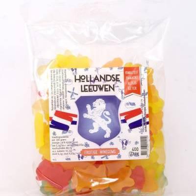 4036 - Jan Bax hollandse leeuwen fruitige winegums 400 gram