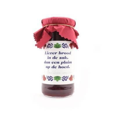 4384 - Jan Bax boeren lekkernij aardbeien jam 300 gram