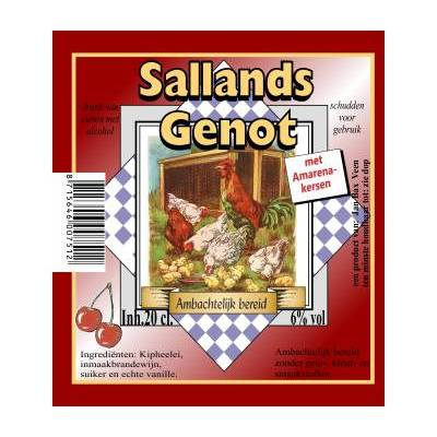 4227 - Jan Bax sallands genot amarenekersen 200 ml