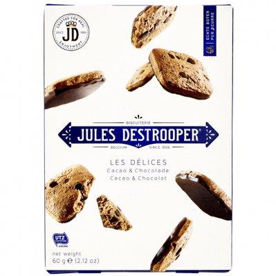 4672 - Jules deStrooper delices cacao & chocolade 60 gram