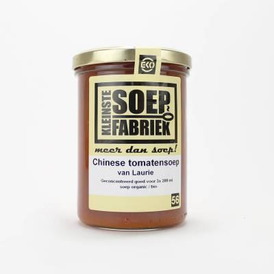 3954 - Kleinste Soepfabriek chinese tomatensoep van laurie BIO 400 ml