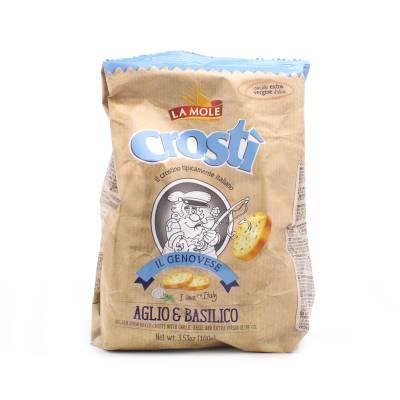2591 - La Mole crostì basilicum knoflook 100 gram