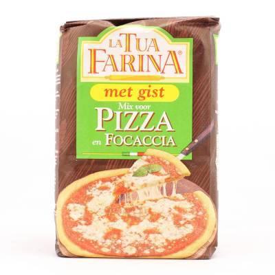 8372 - La Tua Farina mix voor pizza & focaccia met gist 500 gram