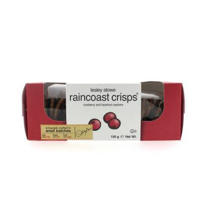 5570 - Lesley Stowe crisps cranberry hazelnut 150 gram