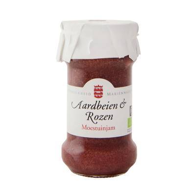 14092 - Mariënwaerdt aardbeien rozenblaadjesjam 240 gram