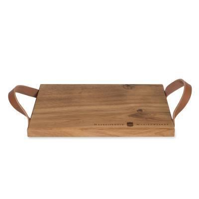 14433 - Mariënwaerdt borrelplank met leer 1 stuk