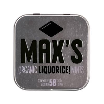 91110 - Max's Mints organic liquorice mints 35 gram