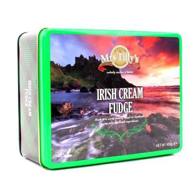 20808 - Mrs Tilly's irish cream fudge gift tin 400 gram