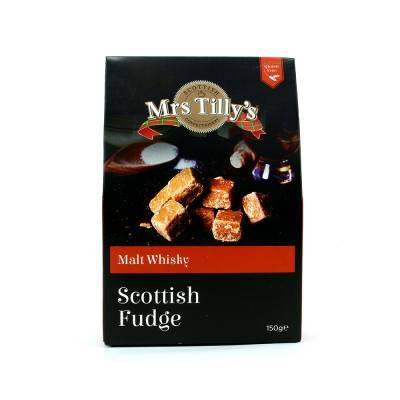 20810 - Mrs Tilly's malt whiskey fudge gift box 150 gram