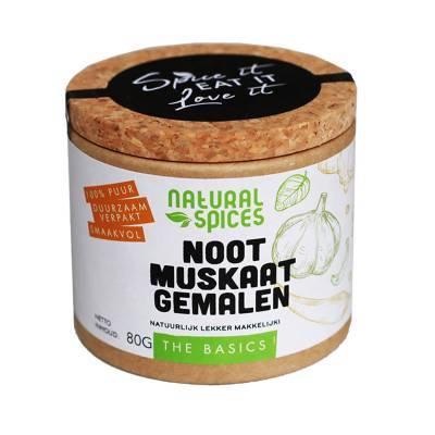 1996 - Natural Spices nootmuskaat gemalen 80 gram