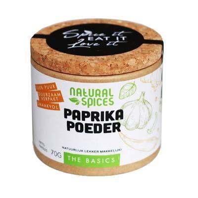 1998 - Natural Spices paprika poeder 70 gram