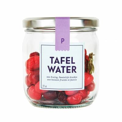 4908 - Pineut tafelwater rfill cranberry kers rozem. 22 gram