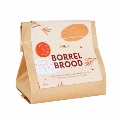 4911 - Pineut borrelbrood focaccia 350 gram