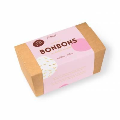 4844 - Pineut bonbon aardbei kokos 120 gram