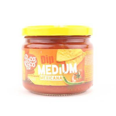 8375 - Poco Loco salsa dip mexican medium 315 gram