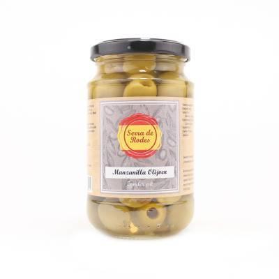 19760 - Serra de Rodes groene manzanilla olijven 350 gram