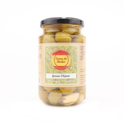 19762 - Serra de Rodes olijven met knoflook en rozemarijn 350 gram