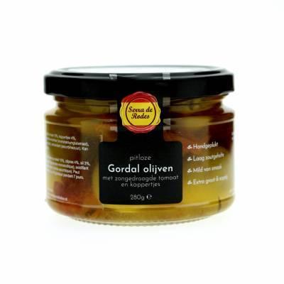 19782 - Serra de Rodes pitloze gordal olijv zg tom & kappertjes 280 gram