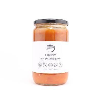 2212H - Smaakgeheimen mango peppedew chutney grootverpakking 720 ml