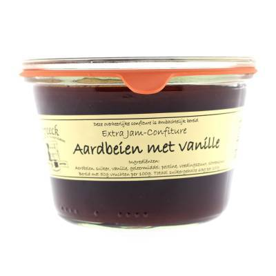 22018 - Streeck confiture aardbei vanille weck 385 gram