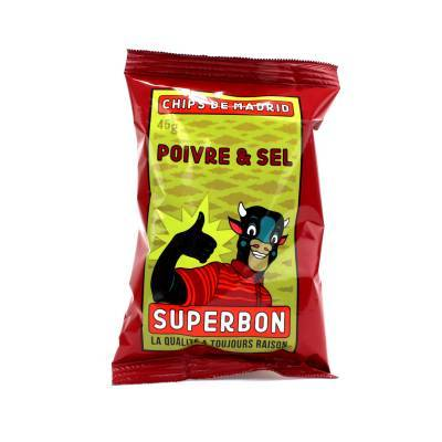 6949 - Superbon Chips Salt & Pepper 45 gram