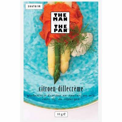 5981 - The Man with the Pan aspergemix citroen dille creme sachet 10 gram