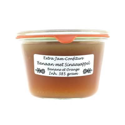 4993 - Theo van Woerkom weckpot extra jam-confiture banaan sinaa 385 gram