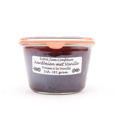 5023 - Theo van Woerkom confiture aardbei met vanille 385 gram