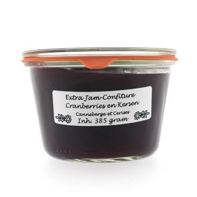 5026 - Theo van Woerkom confiture cranberries en kersen 385 gram