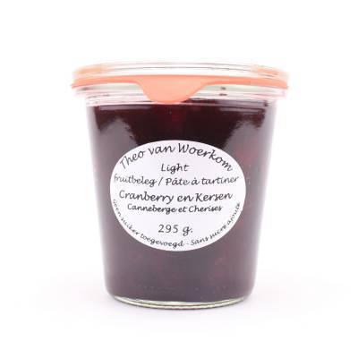 5029 - Theo van Woerkom fruitbeleg cranberries en kersen 295 gram