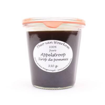 5033 - Theo van Woerkom 100% pure appelstroop 330 gram