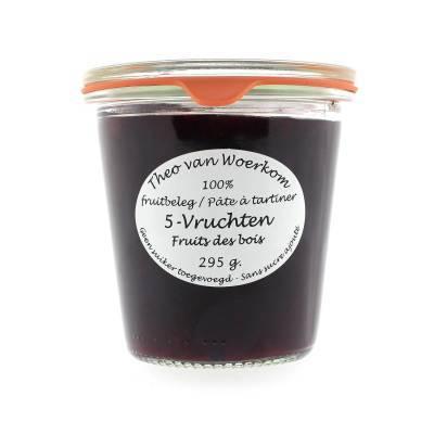 5038 - Theo van Woerkom fruitbeleg 5-vruchten 295 gram