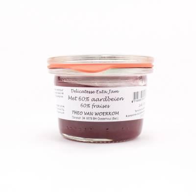 5042 - Theo van Woerkom mini confiture aardbei delicatesse 80 gram