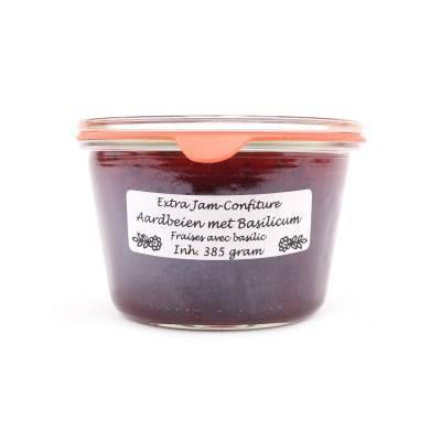 5110 - Theo van Woerkom confiture aardbei met basilicum 385 gram