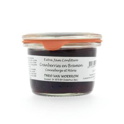 5140 - Theo van Woerkom mini confiture cranberries en bramen 80 gram