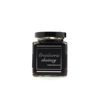 7128 - Theo van Woerkom cranberry chutney vierkant 200 gr