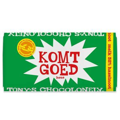 90109 - Tony's Chocolonely hazelnoot beterschap 180 gram