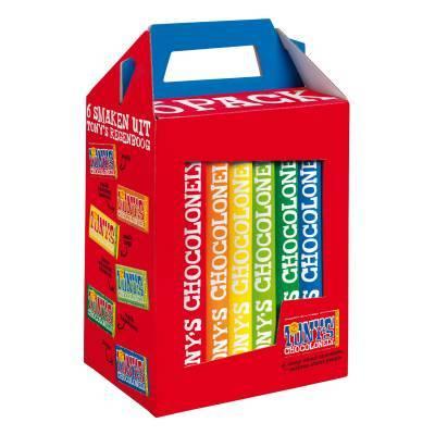 90112 - Tony's Chocolonely 6-pack 3x180 gram
