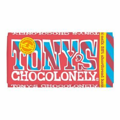 90104 - Tony's Chocolonely melk karamel shortbread 180 gram