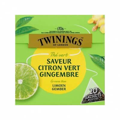 6102 - Twinings groene thee limoen & gember 20 TB