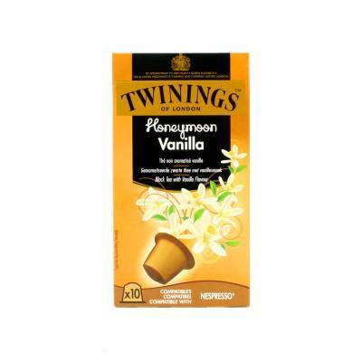 6261 - Twinings pods black tea honeymoon vanilla 8 stuk