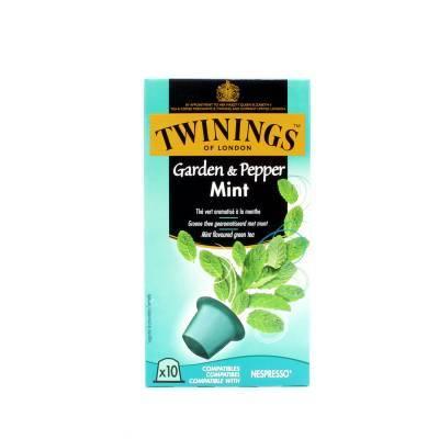 6263 - Twinings pods green tea garden & peppermint 8 stuk