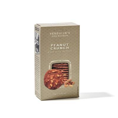 6752 - Verduijn's Fine Biscuits peanut crunch made with butter 75 gram