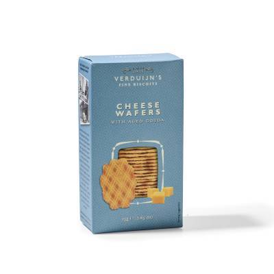 6753 - Verduijn's Fine Biscuits cheese wafers with aged gouda 75 gram