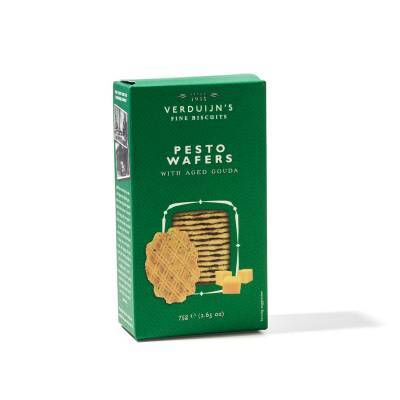 6756 - Verduijn's Fine Biscuits pesto wafers with aged gouda 75 gram