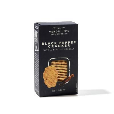 6757 - Verduijn's Fine Biscuits black pepper cracker with seasalt 75 gram